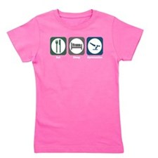 Cute Sleeping man Girl's Tee