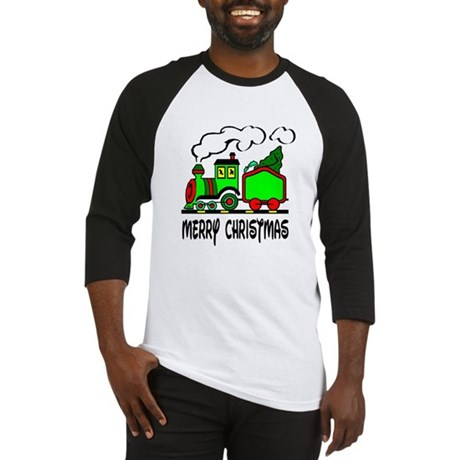 Christmas Train Baseball Jersey