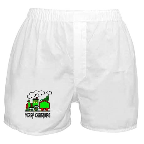 Christmas Train Boxer Shorts
