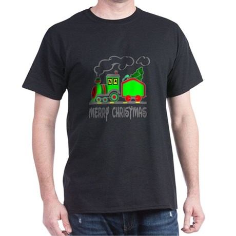 Christmas Train Dark T-Shirt