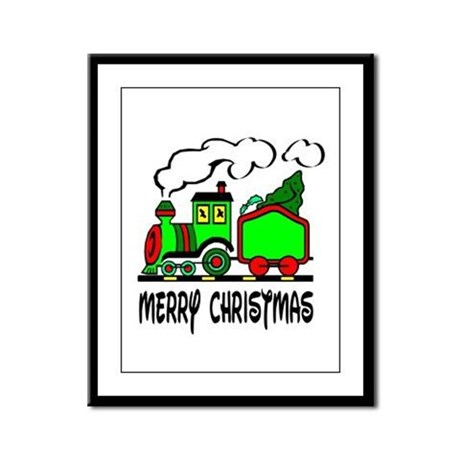 Christmas Train Framed Panel Print