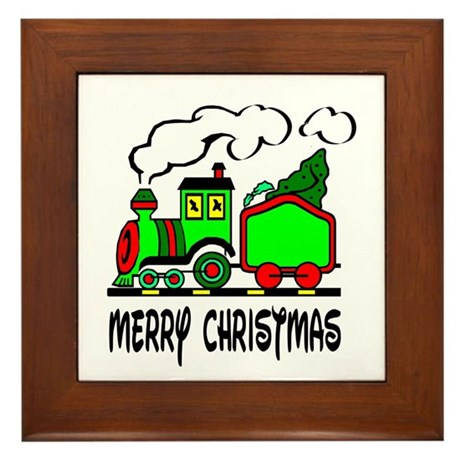 Christmas Train Framed Tile
