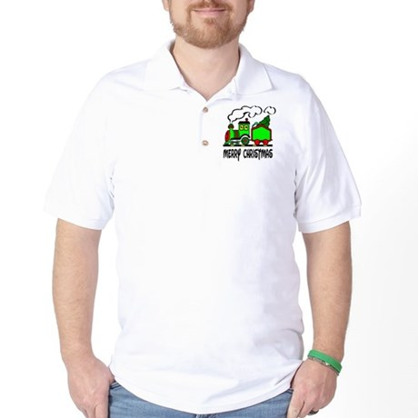 Christmas Train Golf Shirt