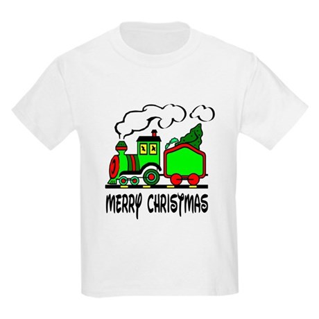 Christmas Train Kids Light T-Shirt