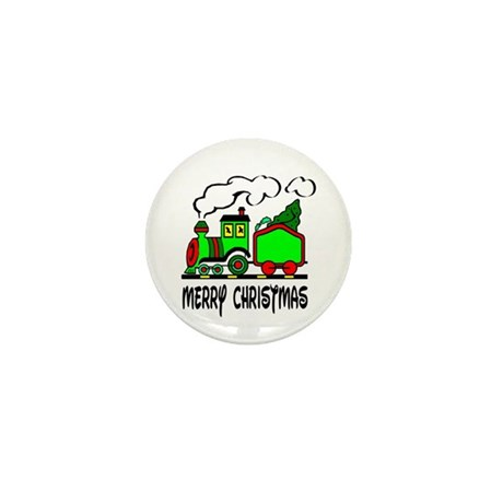 Christmas Train Mini Button