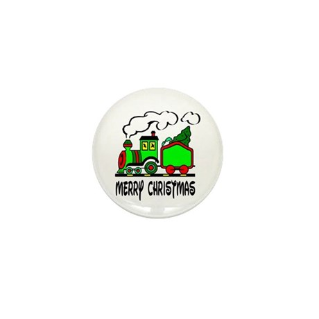 Christmas Train Mini Button (100 pack)