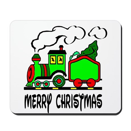 Christmas Train Mousepad