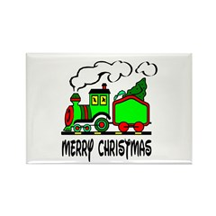 Christmas Train Rectangle Magnet (100 pack)