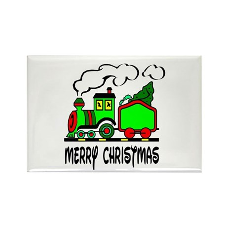 Christmas Train Rectangle Magnet (10 pack)