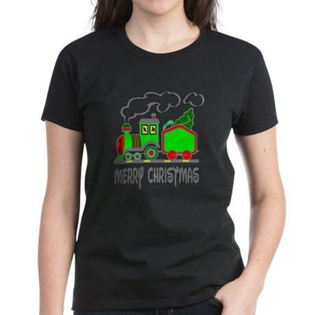 Christmas Train Women's Dark T-Shirt
