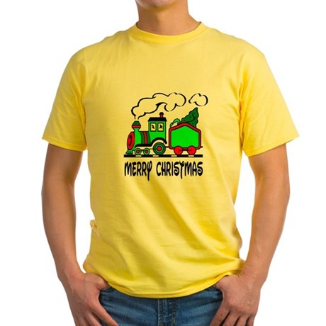 Christmas Train Yellow T-Shirt