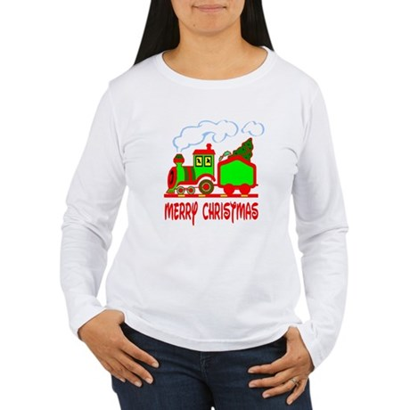 Christmas Train Women's Long Sleeve T-Shirt