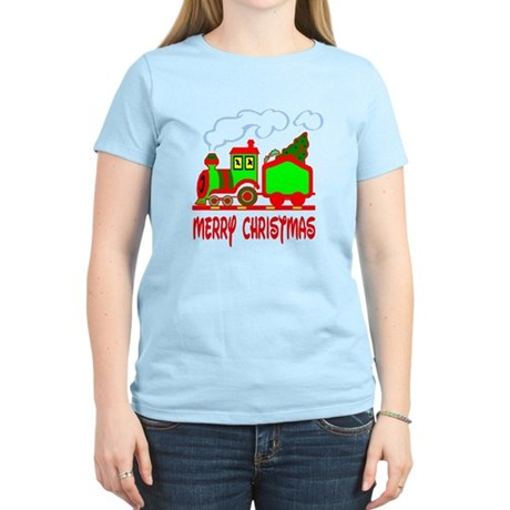 Christmas Train Women's Light T-Shirt