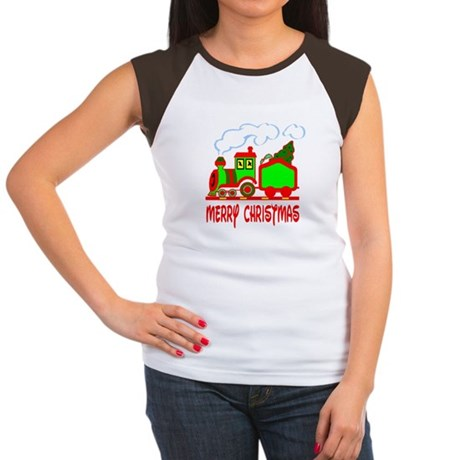 Christmas Train Women's Cap Sleeve T-Shirt