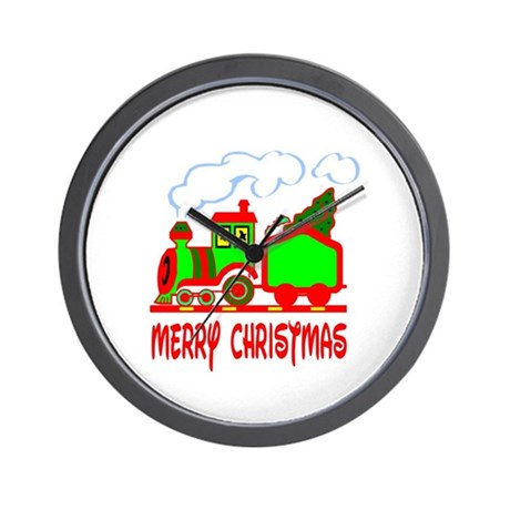 Christmas Train Wall Clock