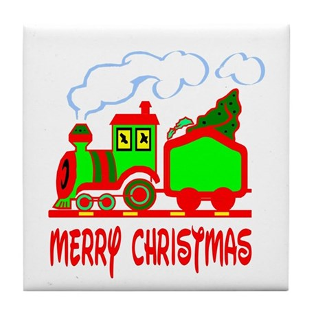 Christmas Train Tile Coaster