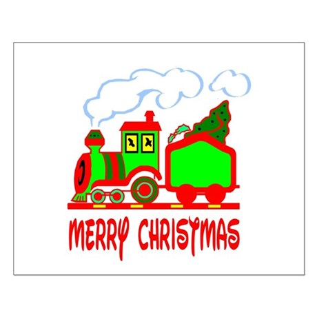 Christmas Train Small Poster