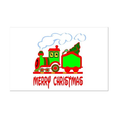 Christmas Train Mini Poster Print