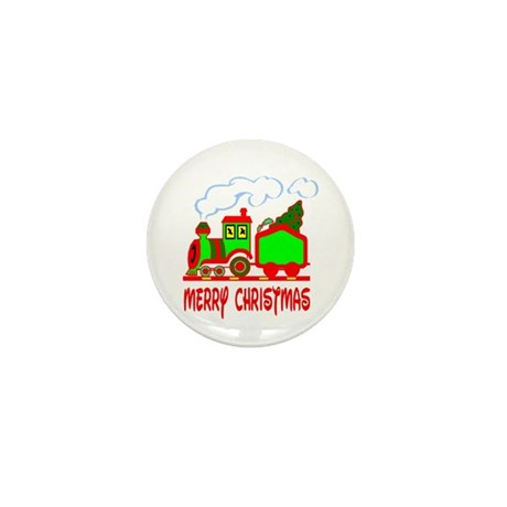 Christmas Train Mini Button (10 pack)