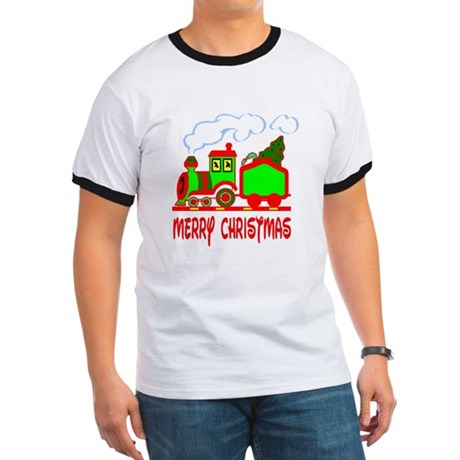 Christmas Train Ringer T