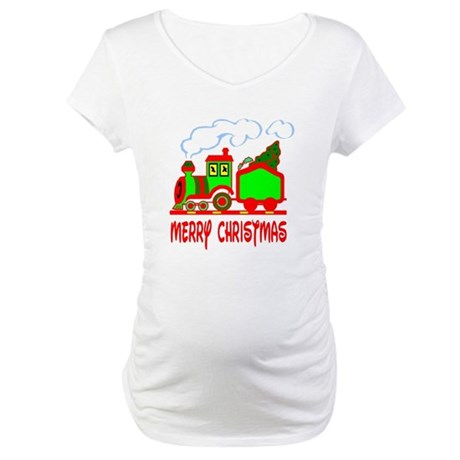 Christmas Train Maternity T-Shirt