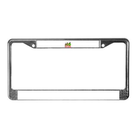 Christmas Train License Plate Frame