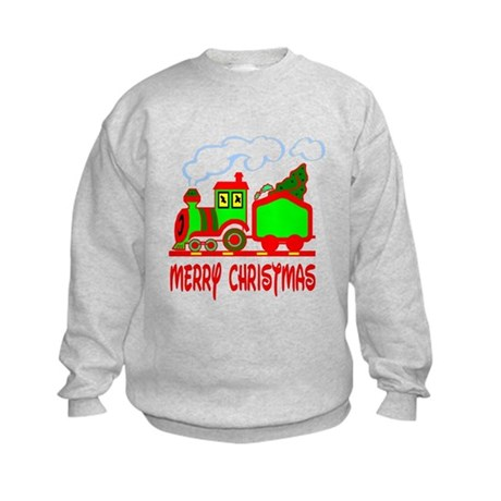 Christmas Train Kids Sweatshirt