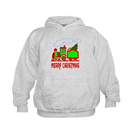 Christmas Train Kids Hoodie