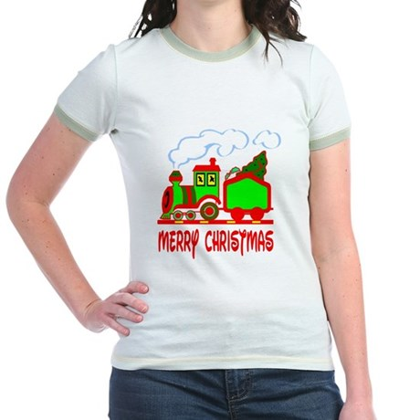 Christmas Train Jr. Ringer T-Shirt