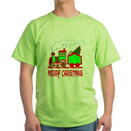 Christmas Train Green T-Shirt