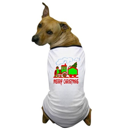 Christmas Train Dog T-Shirt