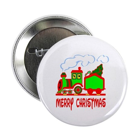"Christmas Train 2.25"" Button (100 pack)"