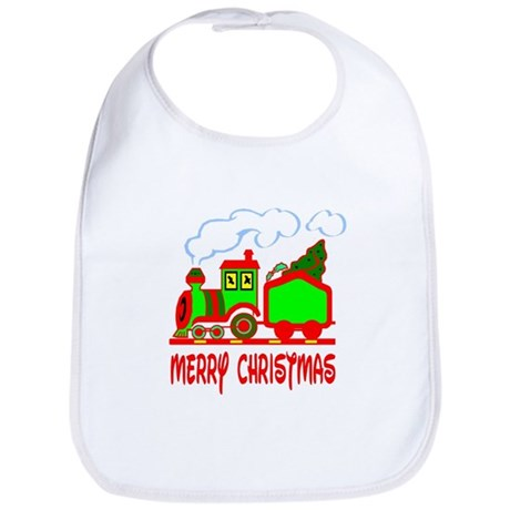 Christmas Train Bib