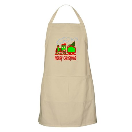 Christmas Train BBQ Apron