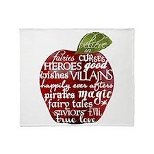 Believe In - Apple Throw Blanket