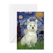 Starry - Westie (#8) Greeting Card