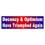 Bumper Sticker: Decency & Optimism