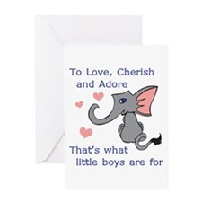 LITTLE BOYS Greeting Cards