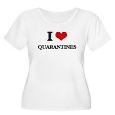 I Love Quarantines Plus Size T-Shirt