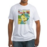 Cute Maps of middle east Shirt