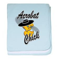 Acrobat Chick #4 baby blanket