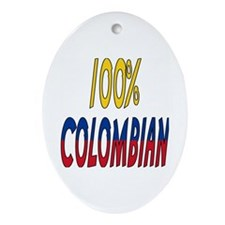 100% Colombian Oval Ornament