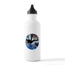 BMX in Grunge Tunnel Water Bottle