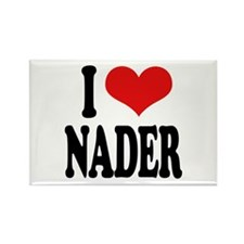 I Love Nader Rectangle Magnet