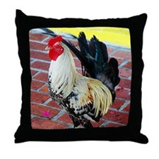 Island Rooster Throw Pillow