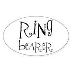 Ring Bearer Oval Sticker