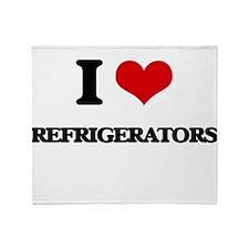 I Love Refrigerators Throw Blanket