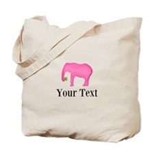 Personalizable Pink Elephant With Clover Tote Bag