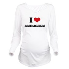 I Love Researchers Long Sleeve Maternity T-Shirt
