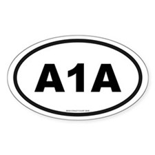 Florida A1A Oval Decal